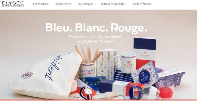 350 000 euros de vente en produits dérivés en seulement 3 jours sur le shop en ligne de l'Elysée.
